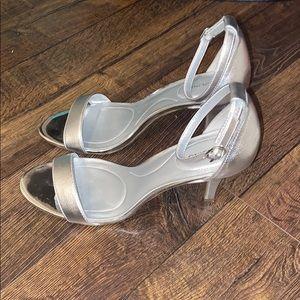 Bandolino Silver Heels Sz 9.5